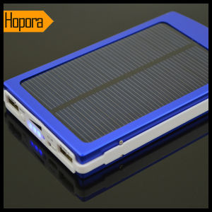 Portable Solar Panel Mobile Cell Phone 10000mAh Power Bank Charger pictures & photos