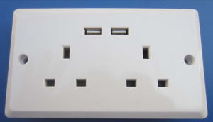 Bs USB Wall Socket, Twin USB Wall Socket Bs Type pictures & photos