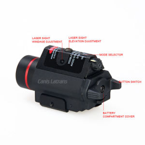 3W-H2 Aluminum M6r Flashlight with Red Laser pictures & photos