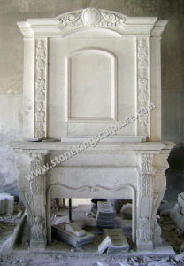 Carved Stone Fireplaces, Carved Marble Fireplaces Mantel pictures & photos