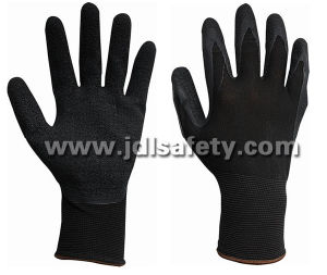 Nylon Work Glove of Latex Coating for Work Safety (LY3015) pictures & photos