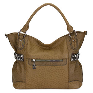 Studded and Embossed Faux Ostrich Hobo Handbags (MBLX033066) pictures & photos