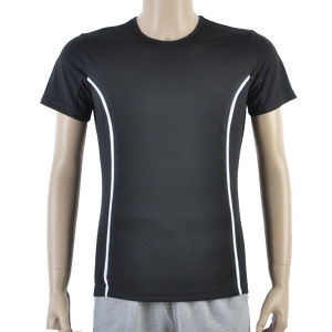 Black Mesh Football Men T Shirt Maker Soccer Jersey pictures & photos