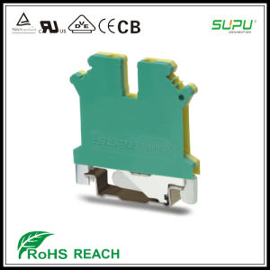 IEC 800V 24V 2.5mm Feed Thru DIN Rail Connector pictures & photos