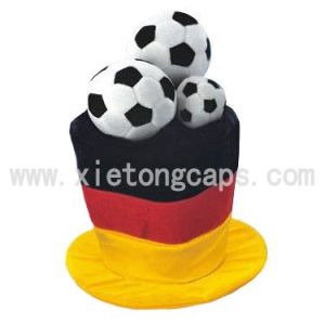 Festival Hat Adorned with 3 Footballs (JRA022) pictures & photos