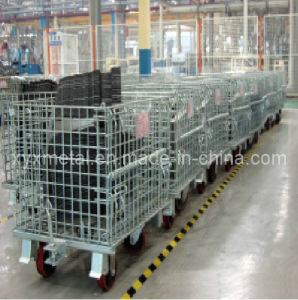 Industrial Workshop Storage Daily Movable Wire Container pictures & photos