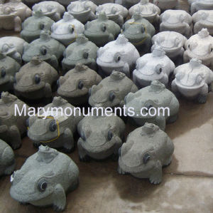 Granite Carving, Garden Sculpture (Frog Carving06)