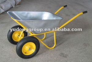 Double Wheels Wheelbarrow Wb6410, Two Wheels Wheel Barrow pictures & photos
