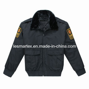 Detachable Bomber Police Coat (077)