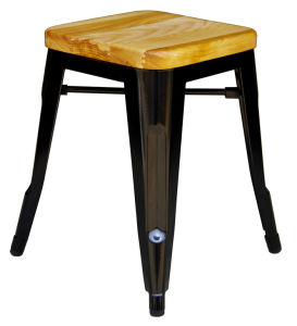 Industrial Tolix Metal Restaurant Wooden Common Bar Stools pictures & photos