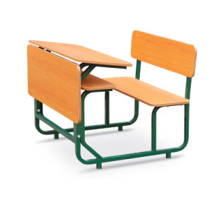 High Quality Double School Desk with Chair (G3185) pictures & photos