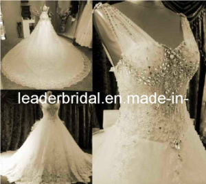 Jeweled Wedding Dress Luxury Bridal Wedding Ball Gown H13903 pictures & photos