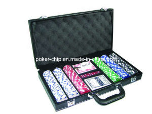 300PCS Poker Chip Set in Black Color Leather Case (SY-S20) pictures & photos