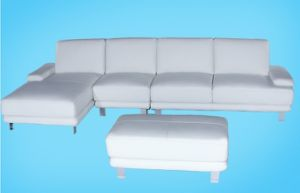 Leather Modern Sofa, Italy Top Grain Leather Sofa, Chaise Sofa (A105)