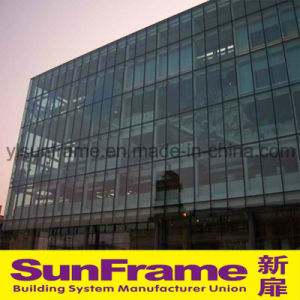 Aluminium Unitized Glazing Curtain Wall Without Frame pictures & photos