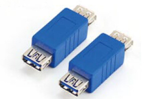 Blue USB3.0 Af to Af Adapter/Coupler pictures & photos