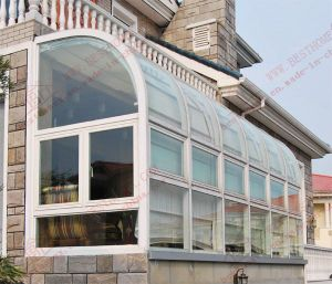 PVC Curved Bay/Balcony Window (BHP-CWA14) pictures & photos