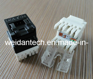 180 Degree Cat5e UTP Keystone Jack with Shutter (WD6B-005) pictures & photos