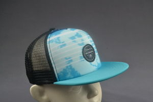 Kid Size Flat Brim Mesh Cap with Sublimation Printing pictures & photos