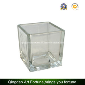 Cube Glass Candle Holder for Home Decor pictures & photos