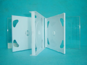 CD DVD Case CD DVD Box CD DVD Cover 24mm for 6 Discswith White Tray