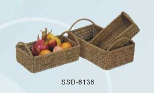 Home Storage Baskets Made From Seagrass in Natural Color (SSD-6136)
