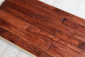 15-18mm Uniclic Lock UV Paint Acacia Engineered Wood Flooring pictures & photos