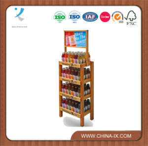 4 Tier Wooden Display Stand with Billboard pictures & photos