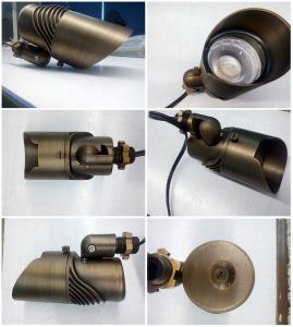 Landscape Lighting Multi-Function LED Outdoor Brass Spotlight with ETL IP65 pictures & photos
