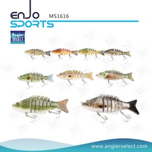 Multi Jointed Life-Like Plastic Fishing Lure Bass Bait Swimbait Shallow Artificial Fishing Tackle pictures & photos