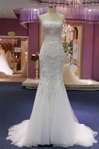 Custom Made Lace Strapless Mermaid Wedding Gowns pictures & photos