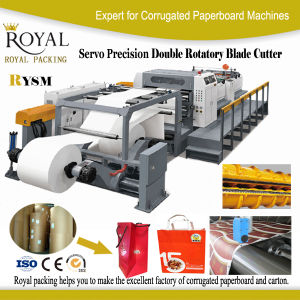 Rysm Servo Precision High Speed Double Rotary Sheet Cutter Cutting Machine pictures & photos
