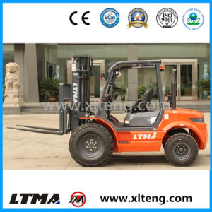 Small Rough Terrain Forklift 2 Ton Diesel off Road Forklift pictures & photos