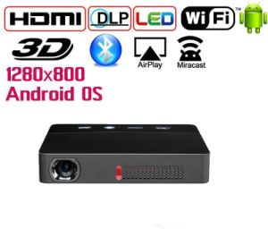 Yi-601 2017 Newest Model Mini DLP Projector Home Use Bluetooth Beamer WiFi Android and WiFi System Hot Sell DLP Projector pictures & photos