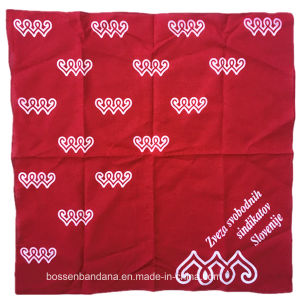 China Factory OEM Produce Custom Logo Print Paisley Red Cotton Bandanna Headwrap pictures & photos