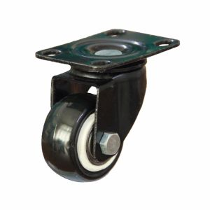 1 1/2 Inch Light Duty PU Rigid Caster with E-Coating Bracket pictures & photos