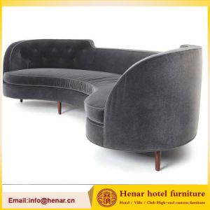 Grey Fabric Half Moon Sectional Sofa/Modern Hotel Couch Sofa : half moon sectional sofa - Sectionals, Sofas & Couches