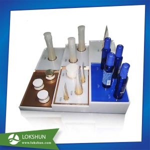 Glossy Acrylic Countertop Display Base for Testing Cosmetic, Display Organizer Case pictures & photos