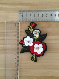 Custom Design Handmade 3D Rhinestone Beaded Patch pictures & photos