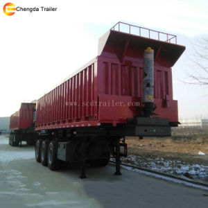 3 Axle Tipper Trailer 12 Wheeler Tipping Trailer for Sale pictures & photos