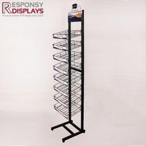 Metal Storage Shelving Apothecary Jar Salt and Pepper Grinders Supermarket Display Floor Rack pictures & photos