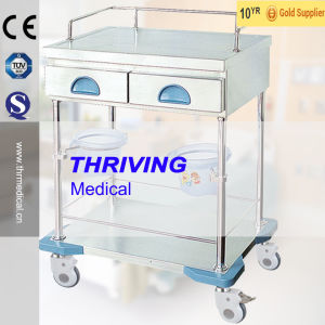 High Quality Medical Emergency Treatment Cart pictures & photos