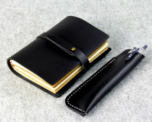 Made of PU Leather Notebook with Debossed Logo pictures & photos