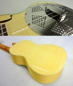 BV/SGS Certificate Supplier---China Aiersi High Quality Flame Maple Wooden Body Resonator Ukulele pictures & photos
