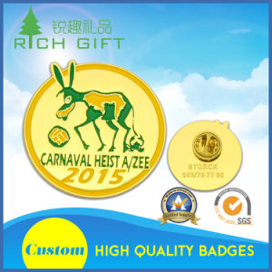 Aluminum Badge with Silk Screen Printed and Safety Pin Attached pictures & photos