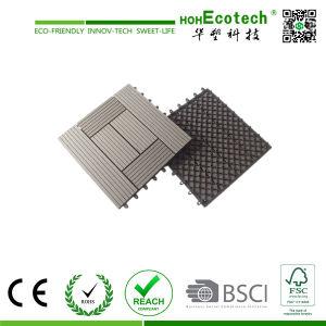 Wood Composite Deck Tile Interlocking Easy Install WPC Tiles Plastic Floor Tile pictures & photos