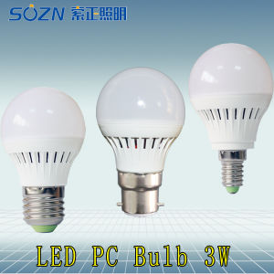 Bulb Lamp 3W with PC Plastic