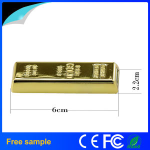 Real Full Capacity 16GB Metal Golden Bar Style USB Flash Drive pictures & photos