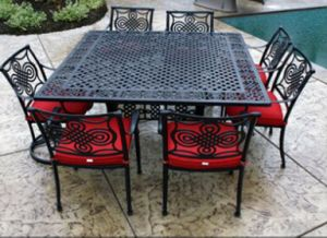 Hot Style 9 PC Dining Set Outdoor Cast Aluminum Furniture pictures & photos