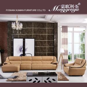 Genuine Leather Shape Chaise Longue Sofa (896#)
